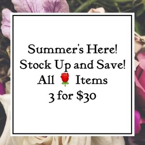 🌹 3/$30 Summer Savings Bundle Sale!🌹